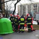 Uratował mężczyznę zpożaru