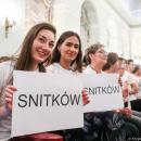 Wolontariusze PWSZ im. Witelona wLegnicy na spotkaniu zPrezydentem RP
