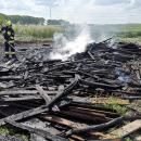 Płonęły odpady, nie las