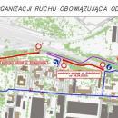 Zmiany organizacji ruchu wzwiązku zbudową TAT - mapa