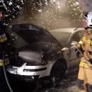 Płonął samochód na gaz