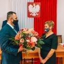 Pożegnanie Lidii Hołodniuk - kierownika Gminnego Ośrodka Pomocy Społecznej wUdaninie
