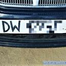 Na tablicy rejestracyjnej znaki były namalowane markerem
