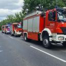 Zderzenie trzech osobówek i… autobus wrowie