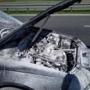 Palił się samochód na S8